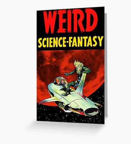 Weird Science Fantasy vintage Greeting Card