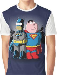 Bathomer VS Supergriffin Graphic T-Shirt