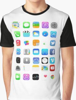 Apple Icons Graphic T-Shirt