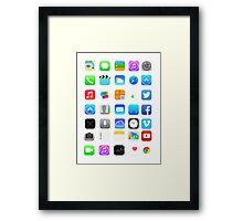 Apple Icons Framed Print