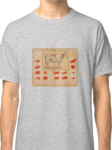 vintage butcher shop ad Classic T-Shirt