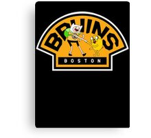 Adventure time Bruins Canvas Print