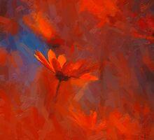 incandescent petals - digital painting by Paul Davenport