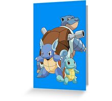 Squirtle Evol Greeting Card