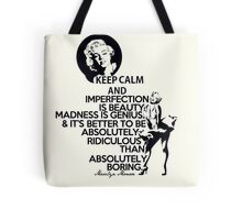 Keep Calm Theory - MARILYN Quote Tote Bag