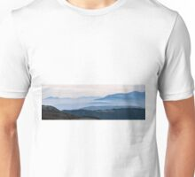 Mountains in the fog of Mount San Vicino, Italy Unisex T-Shirt