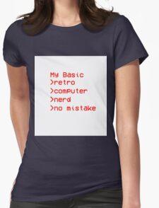 Retro Computer Nerd Womens Fitted T-Shirt