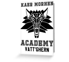 Kaer Morhen Academy Greeting Card