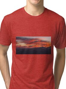 Red clouds in the sky at sunset Tri-blend T-Shirt
