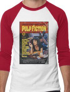 Pulp Fiction Uma Thurman Poster Men's Baseball ¾ T-Shirt