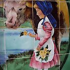 Girl and Cow by biddumy