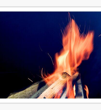 A Roaring Fire Sticker