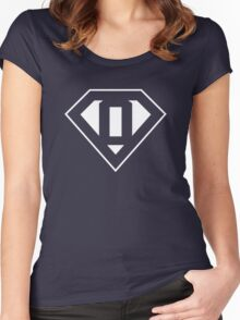 O letter in Superman style Women's Fitted Scoop T-Shirt