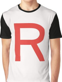 Team Rocket Symbol Pokemon Anime Comic Con Cosplay Costume Graphic T-Shirt