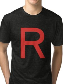 Team Rocket Symbol Pokemon Anime Comic Con Cosplay Costume Tri-blend T-Shirt