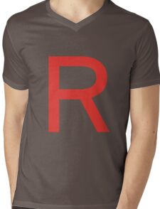 Team Rocket Symbol Pokemon Anime Comic Con Cosplay Costume Mens V-Neck T-Shirt
