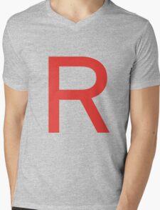 Team Rocket Symbol Pokemon Anime Comic Con Cosplay Costume Mens V-Neck T-Shirt