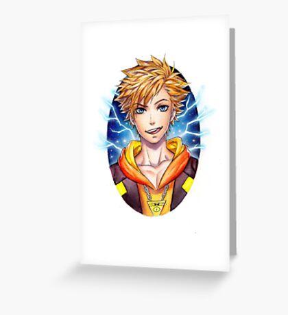 Spark Pokemon Go Watercolor Greeting Card
