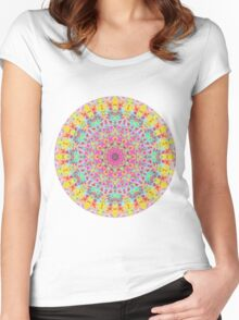 CANDY MANDALA BRIGHT Women's Fitted Scoop T-Shirt