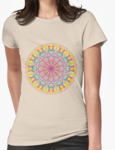 CANDY MANDALA BRIGHT Womens Fitted T-Shirt