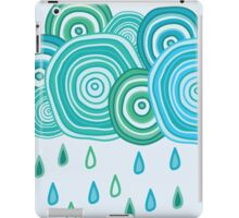 Funny rainy clouds iPad Case/Skin