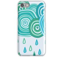 Funny rainy clouds iPhone Case/Skin