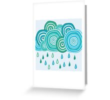 Funny rainy clouds Greeting Card