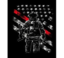 Firefighter Thin Red Line Firefighter Shirts Photographic Print