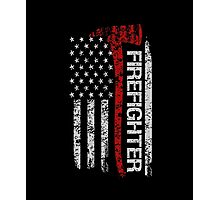 Firefighter tshirts - Firefighter Pride American Flag Photographic Print