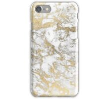 Elegant chic faux gold white stylish marble iPhone Case/Skin