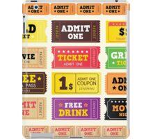 Vector Illustration. Vintage cinema tickets. BIG COLLECTION iPad Case/Skin