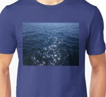 Sparkly Deep Blue Sea Waves Unisex T-Shirt