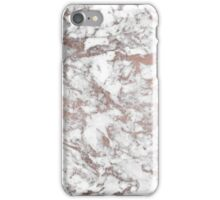 Elegant luxury faux rose gold white stylish marble iPhone Case/Skin