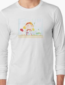 Funny kitchen girl. Cooking girl have fun in the kitchen Long Sleeve T-Shirt