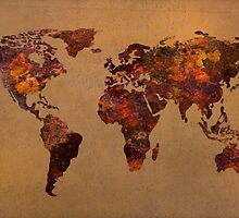 Rust World Map by map-lover