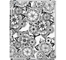 Modern black white hand painted original floral iPad Case/Skin