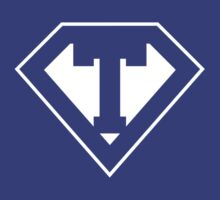 T letter in Superman style by Stock Image Folio