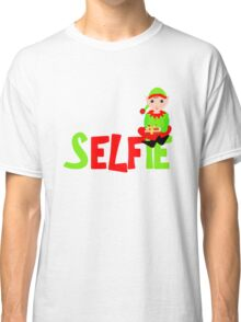 Christmas Elf Cute Funny Selfie Graphic Classic T-Shirt