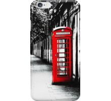 London Calling - Iconic British Phone Box iPhone Case/Skin