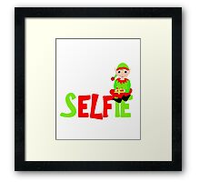 Christmas Elf Cute Funny Selfie Graphic Framed Print
