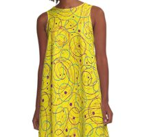 Yellow abstract design A-Line Dress