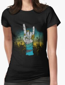 Zombie Heavy Metal. Womens Fitted T-Shirt