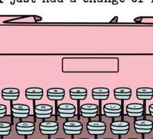 Typewriter - A Change of Heart Sticker