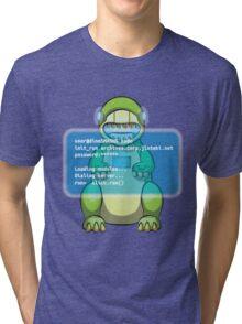 user@dinoSMASH$ Tri-blend T-Shirt