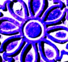 Coalhole cover in blue Sticker