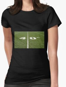 Football Field Forty Womens Fitted T-Shirt