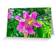 Exotic Blooms Greeting Card