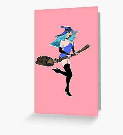BLUE WITCH Greeting Card