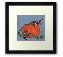 Pumpkin Patch Chipmunks Framed Print