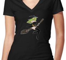Green Witch Women's Fitted V-Neck T-Shirt